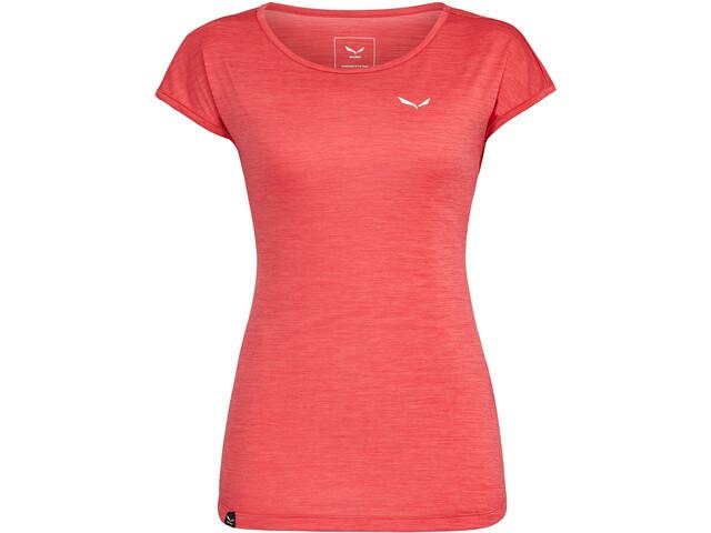 SALEWA Puez Melange Dry T-shirt Femme, rose red melange